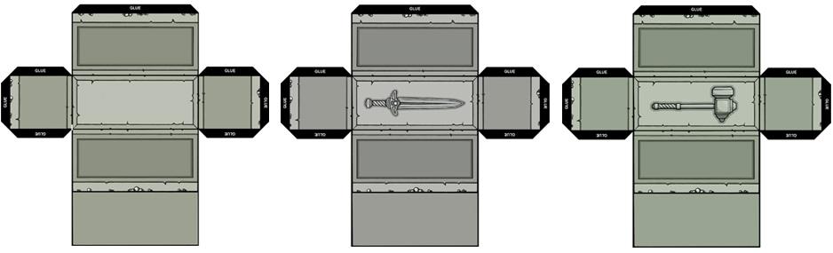 3D papercraft tombs